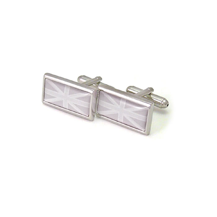 Pastel Grey Tones Union Jack Cufflinks