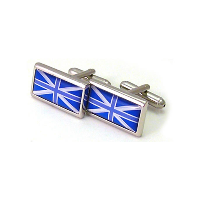 Blue Tones Union Jack Cufflinks