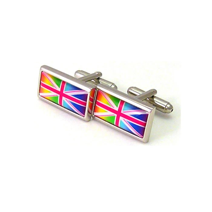 Multi Coloured Union Jack Cufflinks
