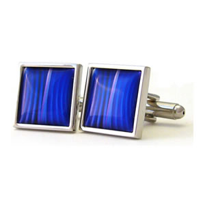 Blue Mystique Square Cufflinks