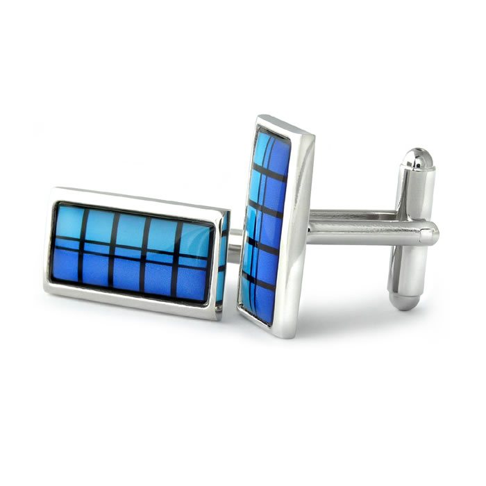 Blue Hudson Stripe Cufflinks