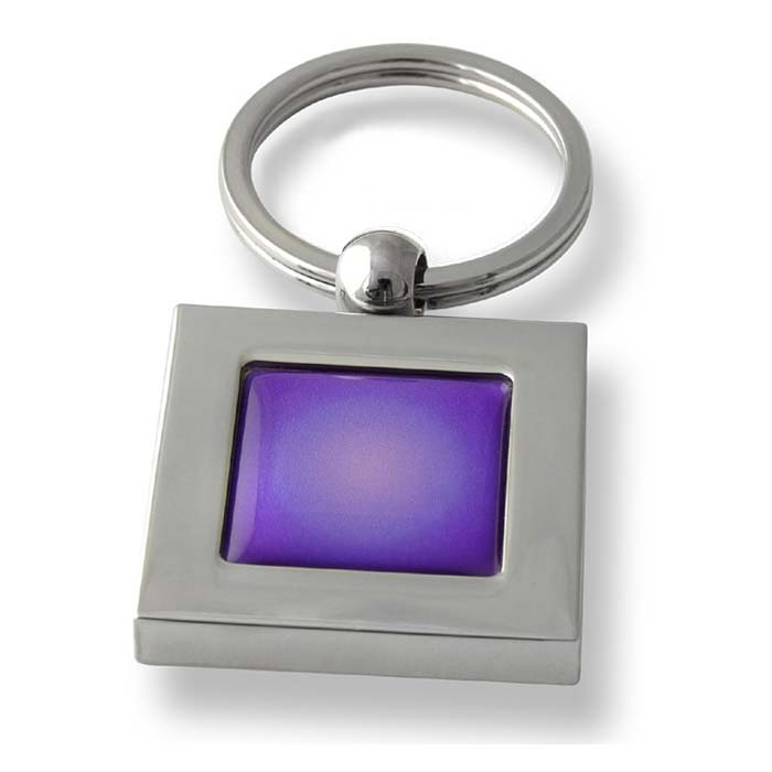 Radiant Purple Square Keyring
