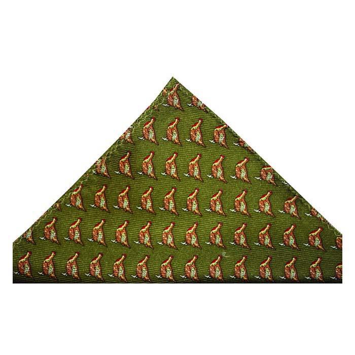 Green Grouse Hankie