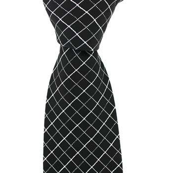 Black And Silver Multi Cross Tie