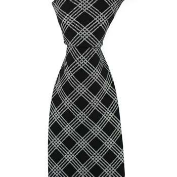 Black And Silver Small Cross Tie