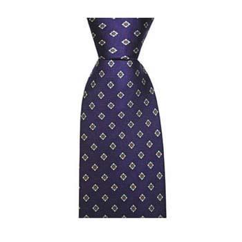 Purple Diamond Flower Tie