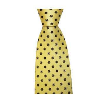 Yellow Diamond Flower Tie