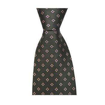 Green Diamond Flower Tie