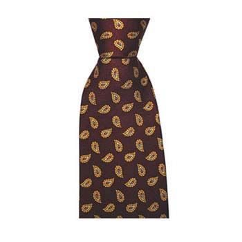 Wine Birds Eye Paisley Tie