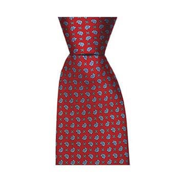Red Small Paisley Cross Tie