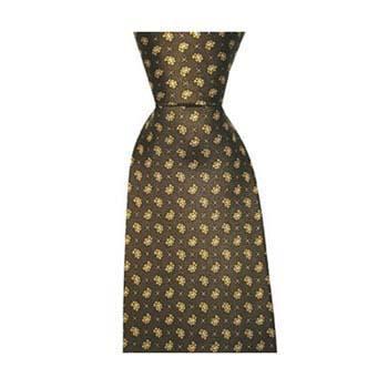 Green Small Paisley Cross Tie