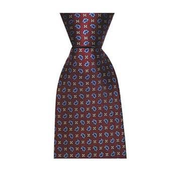 Wine Small Paisley Cross Tie