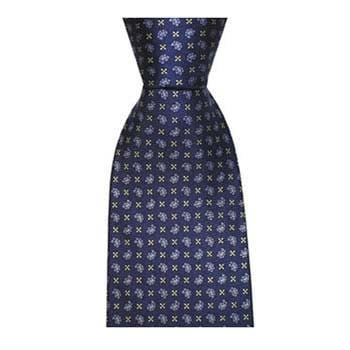 Blue Small Paisley Cross Tie
