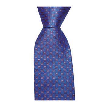 Blue Diamond Chain Tie