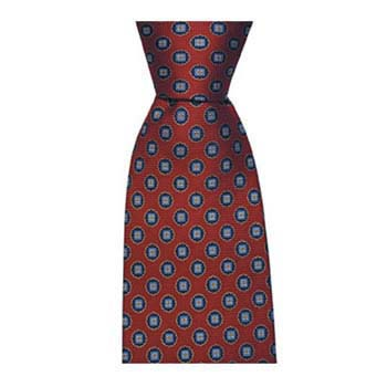 Red And Blue Circle Spot Tie