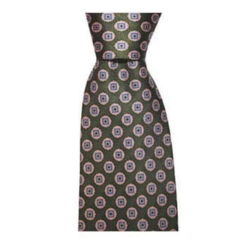 Green And Pink Circle Spot Tie