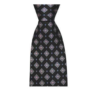 Navy Blue Diamond Tie