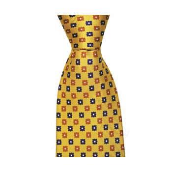 Yellow Square Flower Tie