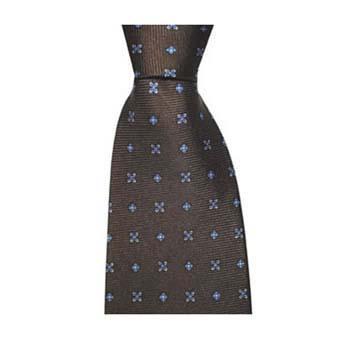 Chocolate Cross Flowers Tie