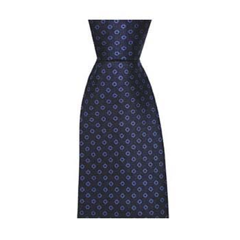 Navy And Blue Diamond Spot Tie