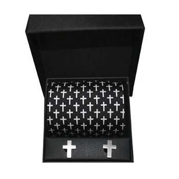 Cross Cufflink And Tie Gift Box