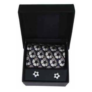 Football Cufflinks And Tie Gift Box