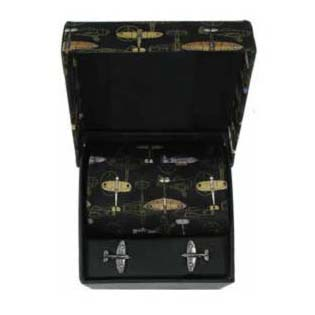 Fighter Planes Cufflink And Tie Gift Box