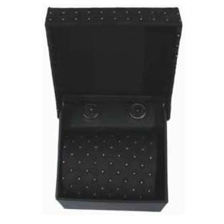 Black Dots Cufflinks And Tie Gift Box