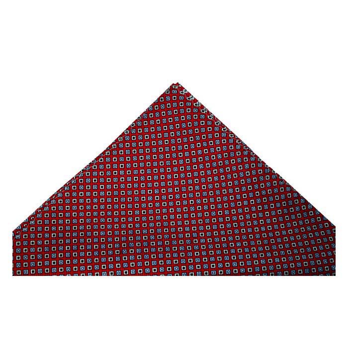 Red And Yellow Squares Silk Hankie