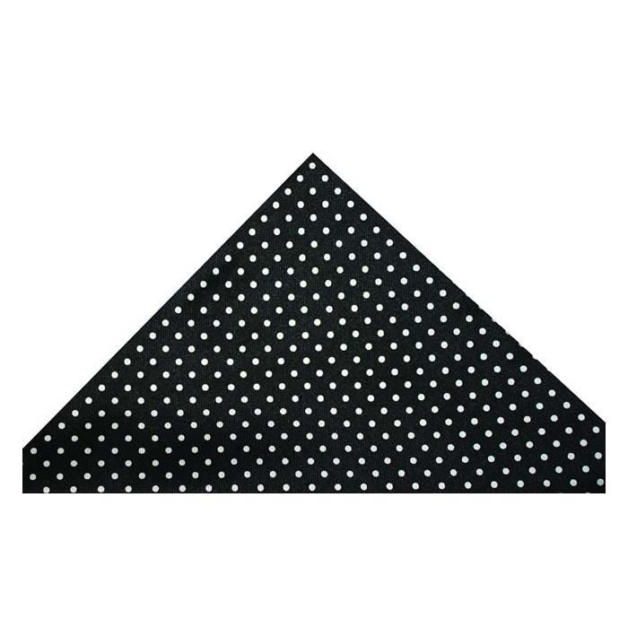Black And White Small Polka Dot Silk Hankie