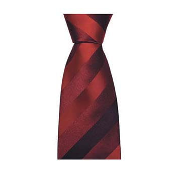Red Thick Stripe Tie