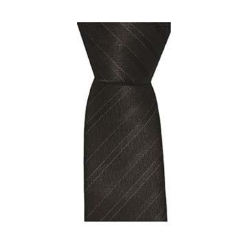 Chocolate Skinny Thin Stripe Tie
