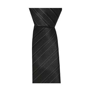 Black Skinny Thin Stripe Tie