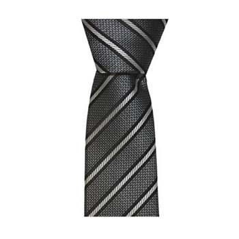 Black And Grey Skinny Stripe Tie