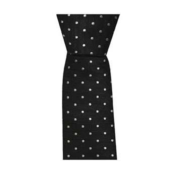 Black Skinny Small Spots Tie