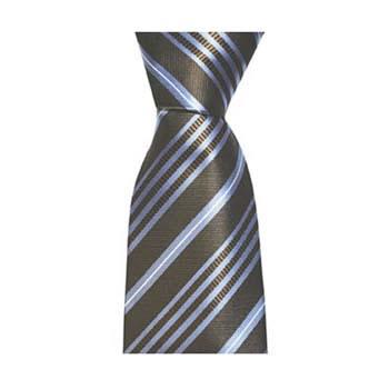 Brown And Blue Multi Stripe Tie