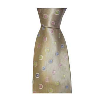 Tan And Multi Coloured Diamond Spot Tie
