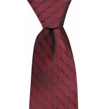 Red And Blue Blue Stripes Tie