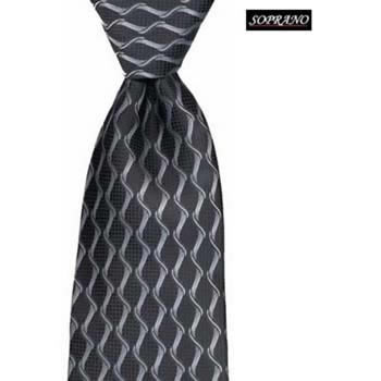 Black And White Chain Waves Tie