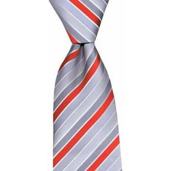 Red And Grey Stripe Tie