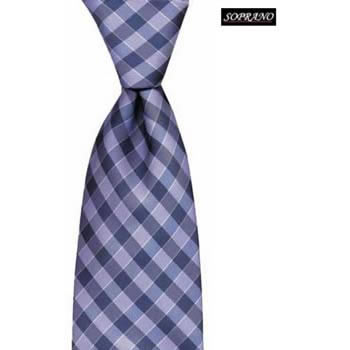 Lilac And Blue Chequered Stripe Tie