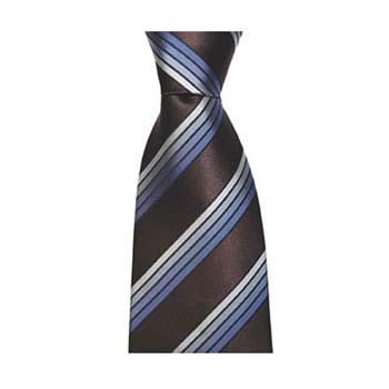 Chocolate And Blue Multi Stripe Tie