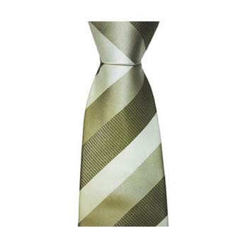 Green Shades Solid Striped Tie