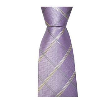 Lilac And Tan Check Tie