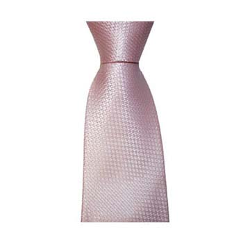 Pink Small Square Check Tie