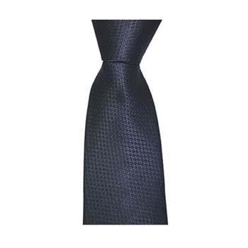 Navy Blue Small Square Check Tie