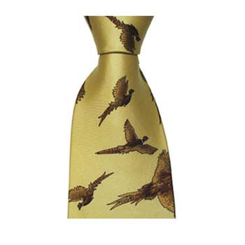 Yellow Flying Pheasant Style Tie