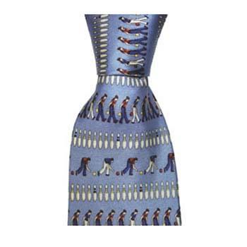 Light Blue Ten Pin Bowling Tie