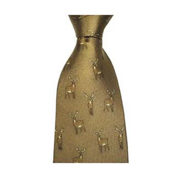 Brown Stag Tie