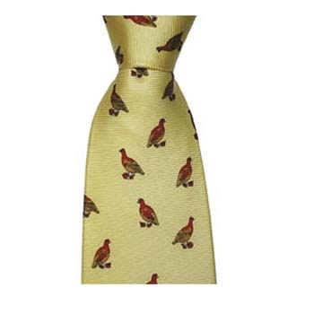 Yellow Partridge Tie